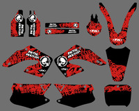 0178 Red Black NEW STYLE TEAM DECALS STICKERS GraphicS For HONDA CR125 CR250 2000 2001