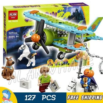 127pcs Bela 10429 Mystery Plane Adventures Scooby Doo Dog Shaggy Horseman toys Model Building Blocks Compatible with Lego скуби ду лего