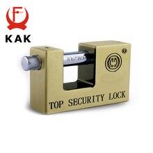 KAK E9 시리즈 고풍스런 슈퍼 B 등급 자물쇠 안전 도난 방지 잠금 장치 녹슬지 않는 골동품 청동 탑 보안 잠금 장치