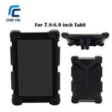 Universal Funda de Silicona Para Samsung Huawei Xiaomi Tablet Asus 7.8 8 9 Pulgadas A Prueba de Golpes para iPad Mini 3 kindle con Soporte