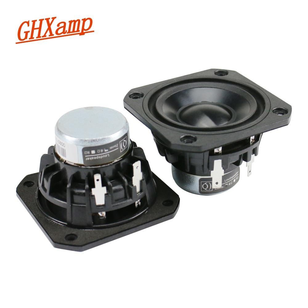 GHXAMP 2.5 inch Full Range Speaker Unit 4ohm 15W Neodymium Ceramic Alumina Full frequency Loudspeaker Bluetooth Speaker DIY 2pcs ghxamp 3 inch 4ohm 30w midrange speaker car speaker mid human voice sound good loudspeaker for lg diy 2pcs