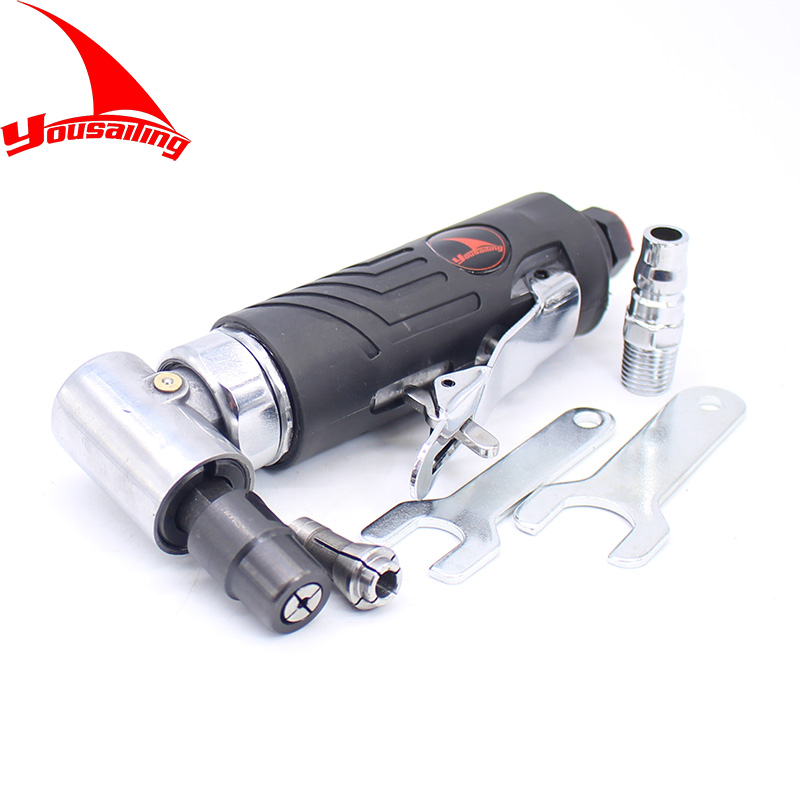 YOUSAILING 1/4&1/8 Pneumatic Angle Die Grinder 90 Degree 3MM&6MM Air Die Grinder Tools 20000rpm air grinder mag 121n 52 500rpm 3mm 1 8 hot tools