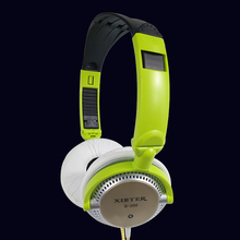 Xibter Mini Colorful Headset With Inline Microphone 3.5mm Jack Wired Foldable Headphone Kids Children Student Girl Women Gift