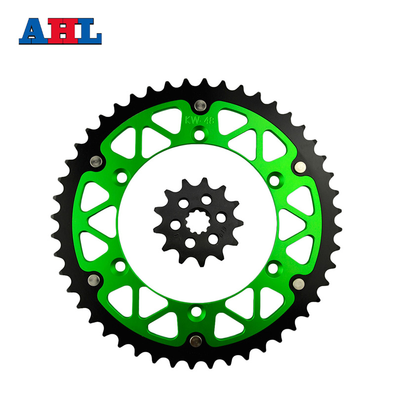 Motorcycle Parts 48-13 T Front & Rear Sprockets Kit For KAWASAKI KX250F KX 250F KX250 KX 250 F 2004-2005 Gear Fit 520 Chain
