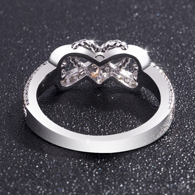 Love You Forever Promise Infinity Heart Ring 4
