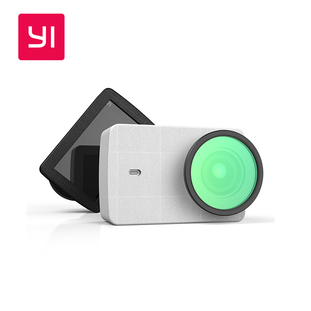 Xiaomi YI 4K Action Camera Accessories Protective Lens + PU Leather case for Xiaoyi Action Camera 2