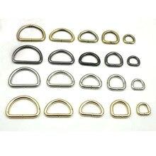 Металлическая фурнитура для сумок с D образным кольцом 20 мм, серебристо черная латунь толщиной 3/4 дюйма, 3,8 шт./лот