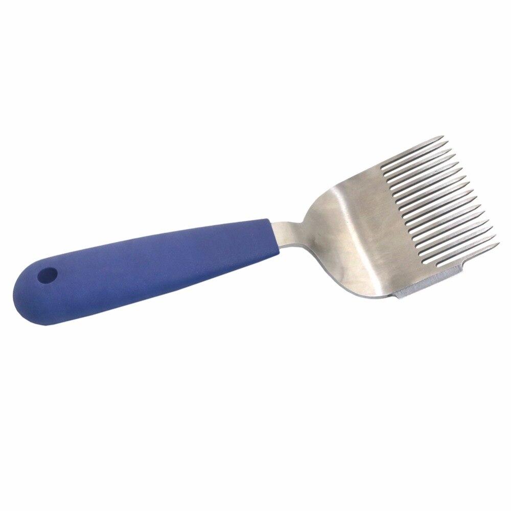 1 sztuk 16-Pin proste igły Uncapping widły niebieski uchwyt ze stali nierdzewnej miód pszczeli rzadkie prowizji łopata dostarcza narzędzia pszczelarskie