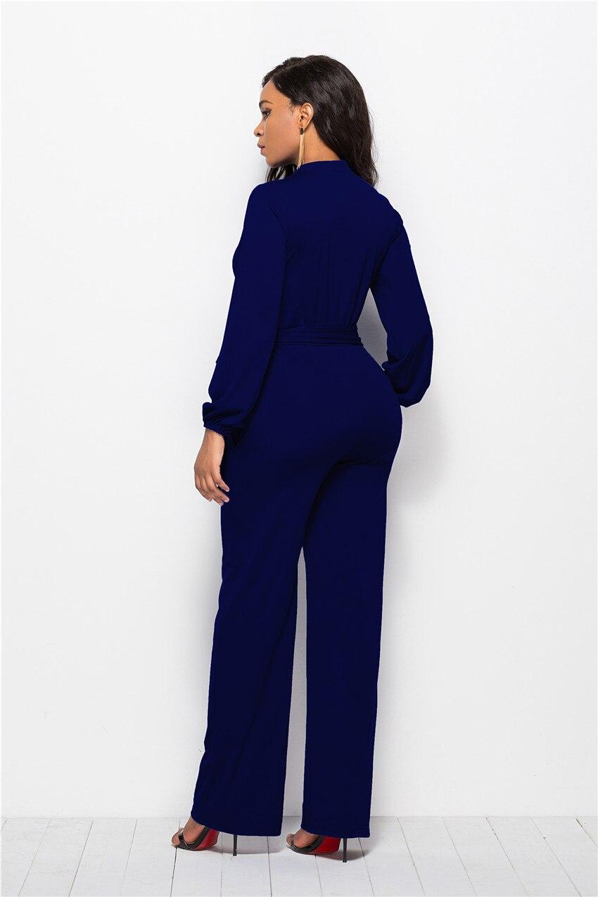 f270699c29c6 2019 Jessie Vinson Turtleneck Long Sleeve Wide Leg Jumpsuit Buttons ...