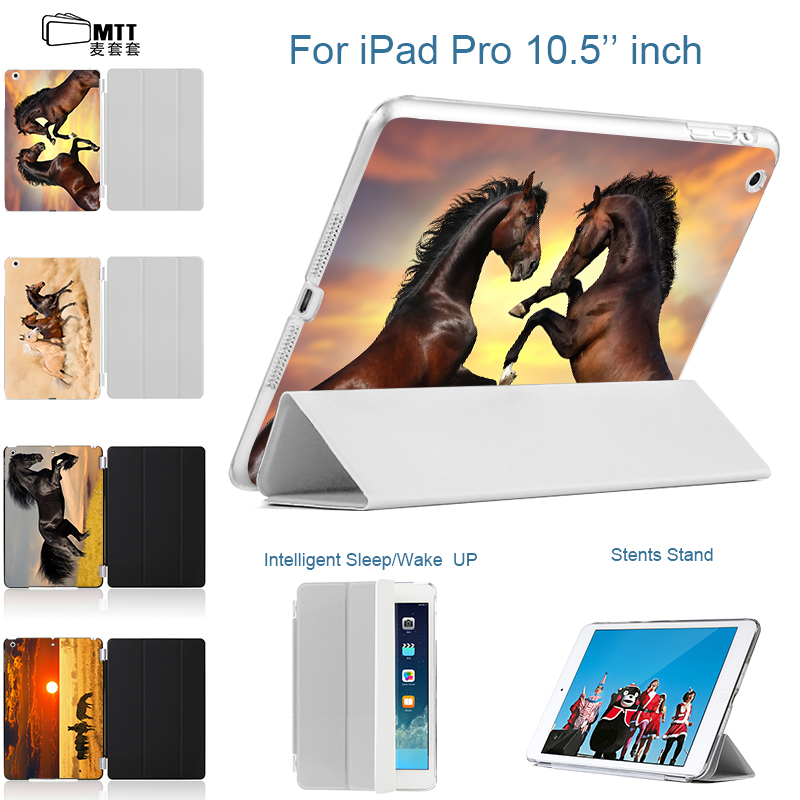 MTT Case For iPad Pro 10.5 inch Flip PU Leather Smart Cover For i Pad Pro 10.5 Tablet Print Horse Back Case Auto Wake up Sleep ultra thin smart flip pu leather cover for lenovo tab 2 a10 30 70f x30f x30m 10 1 tablet case screen protector stylus pen