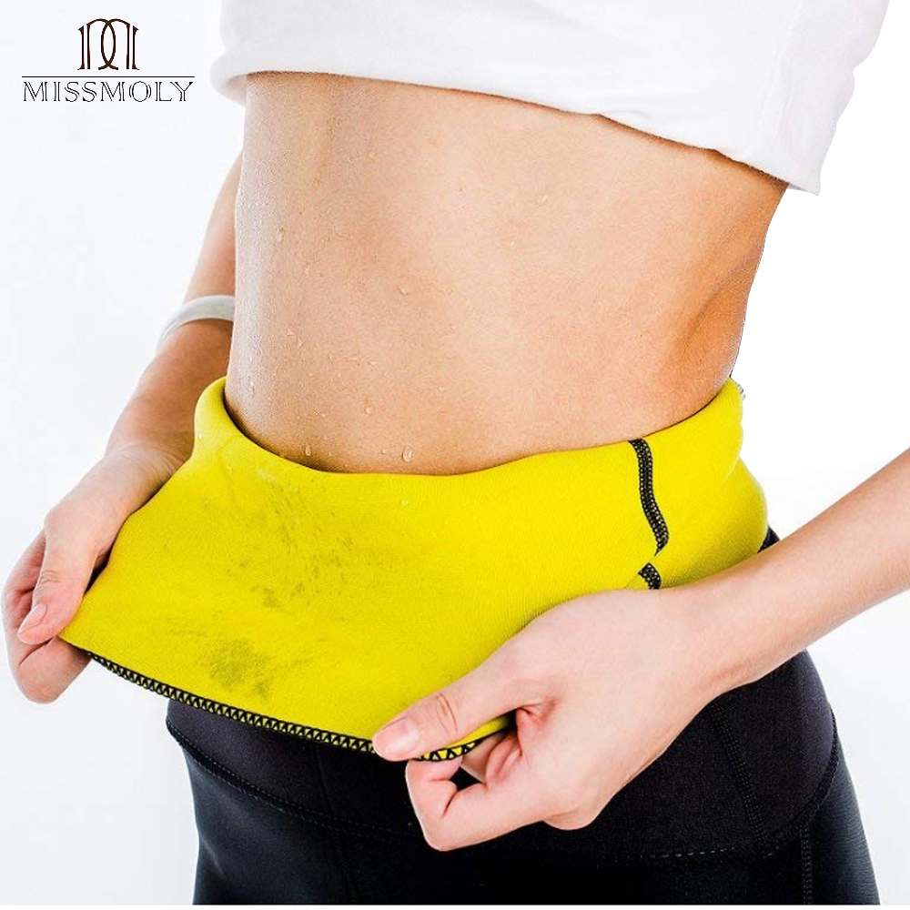 Waist Trainer Women Neoprene Sauna Belt Fat Burner Sweat Corset Body Shaper Slim