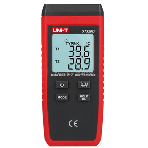 Image 3 - UNI T UT320D Mini Contact Thermometer, Dual Channel K/J Thermokoppel Thermometer Data Te Houden Automatisch Uit