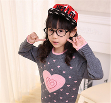 2017 Children's sweater Children's clothing Winter new  Keep warm Cashmere sweater Hedging Round collar Kids for Girls