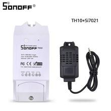 Sonoff TH10 Switch + Waterproof Temperature Sensor + Non-Waterproof Humidity Temperature Monitoring Sensor  Probe Smart Module