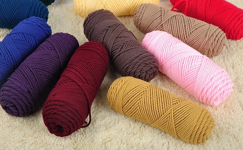 100g/pcs Natural Soft Silk Milk Cotton Yarn Thick Yarn For Knitting Lover Scarves Knitting Wool crochet yarn weave thread 6