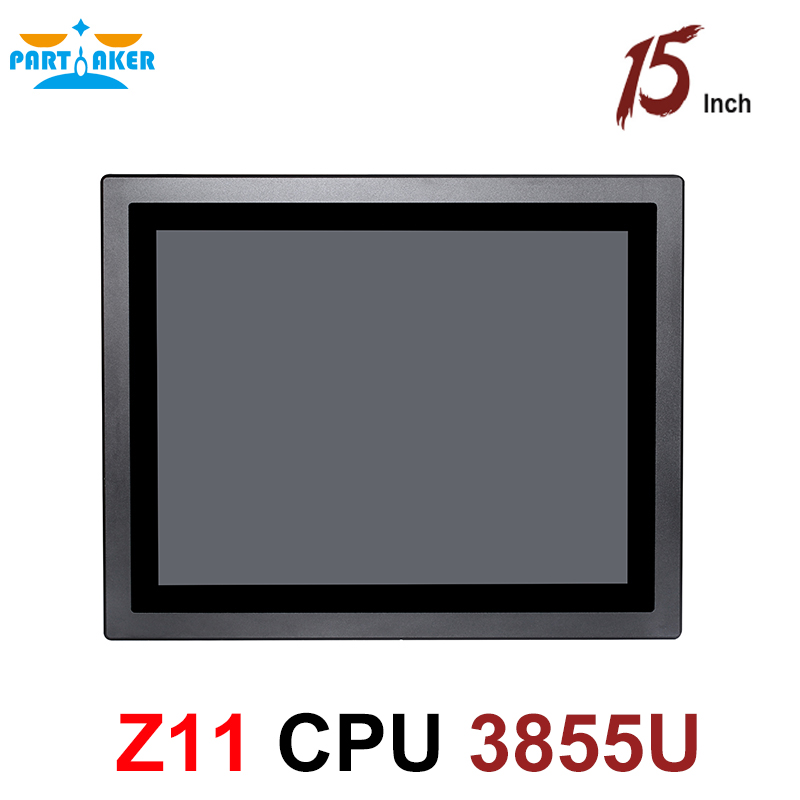 15 Inch LED IP65 Industrial Touch Panel PC All In One Computer With 10 Points Capacitive Intel Celeron 3855U