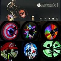 XuanWheel Colorful Bicycle Lights Bike Cycling Wheel Spoke Light 192pcs RGB LEDs DIY Cycle Bike Smart Light Bicycle Accessories