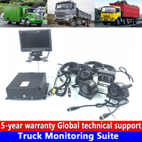Computer mobile phone monitoring local video HD 720P truck monitoring set private car / engine / crane scalable upgrade 4G