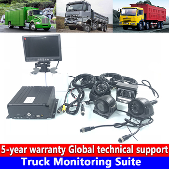 Computer mobile phone monitoring local video HD 720P truck monitoring set private car / engine / crane scalable upgrade 4G image