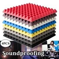 Acoustic Panels Noise Reduction Absorption Wedge Tiles Sound Insulation KTV Studio Room Soundproofing Foam 50x50x5cm