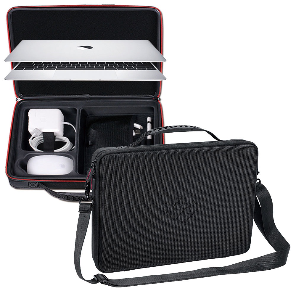 Smatree Hard Bag Carry Case for Apple Macbook Air 13.3 inch,Macbook Pro 13 inch,12 inch with Shoulder Strap notebook sleeve protector for mac book 13 for macbook air pro 13 laptop sleeve carry bag case pro waterproof cover