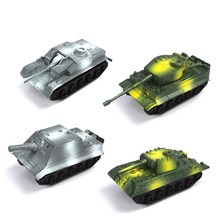 Finished 4 style set 1:72 plastic pull back tank model  military model toys tank scale free Shipping Assault mortar