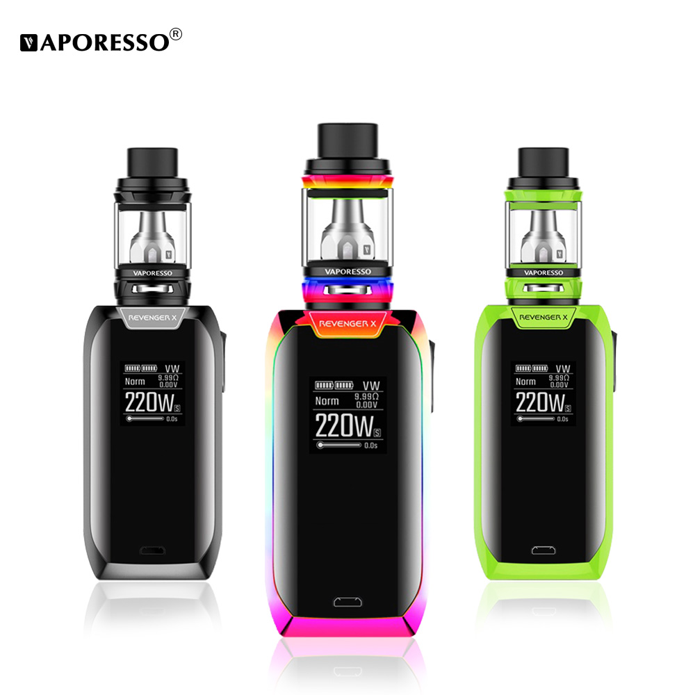 Vaporesso Revenger X Kit 220W Electronic Cigarette with Revenger X Mod NRG SE mini Tank Vape Kit Support GT4 GT8 coil original vaporesso revenger x 220w tc kit with 5ml nrg tank and revenger x mod box vaporesso electronic cigarettes vape kit