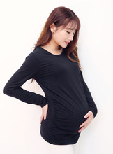 2016 Maternity Tops Long-sleeved Round Neck Shirt Cotton T-shirt For Nursing Women Pregnancy Clothing Clothes For Pregnant Women