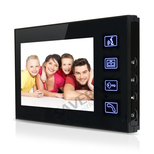 HOMSECUR 7 Video Intercom System For 3 Apartments Touch Key Monitor Night Vision Camera