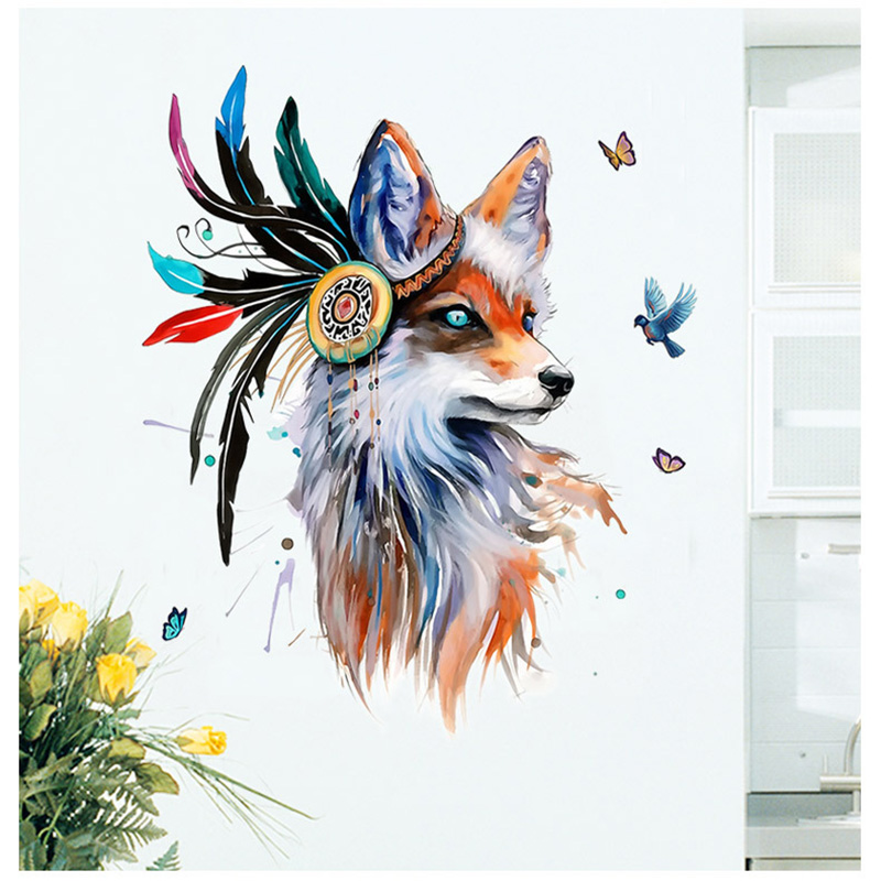 Boho Style Fox Removable Wall Sticker 12