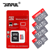 BiNFUL Fashion red memory card 32GB 64GB micro sd card SDHC/SDXC 8GB 4GB mini TF Card memory stick for Mobile Phone with adapter