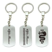 Для ALFA ROMEO Автомобильный логотип эмблема значок для Mito 147 159 156 автомобильный Стайлинг металлический брелок для ключей эмблема брелок для ключей автомобильный стиль