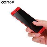 Doitop ультратонких карты смартфон Студент леди мобильного телефона 1.54 дюймов сенсорный мини телефона MP3 MP4 музыка играет Bluetooth Dialer