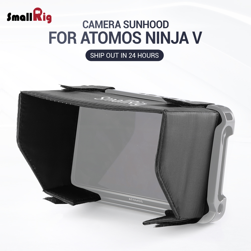 SmallRig DSLR Camera Director's Monitor Sun Hood For Atomos Ninja V Nylon Easy To Take On And Removed 2269