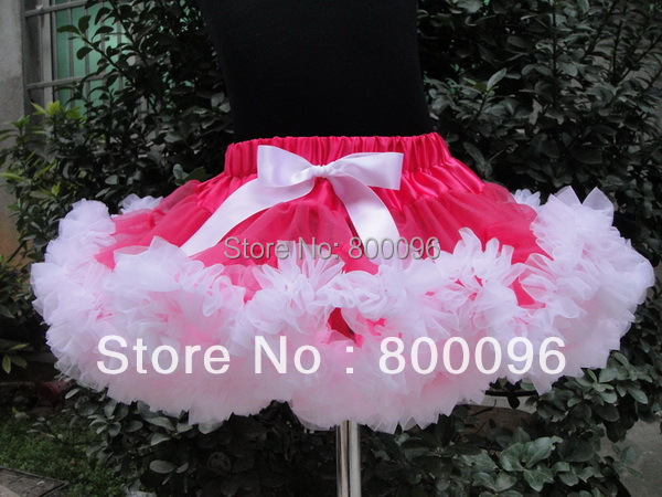 Wholesale Girls Skirts 2015 White Bow  pettiskirts for kids Baby Tutus PETS-061