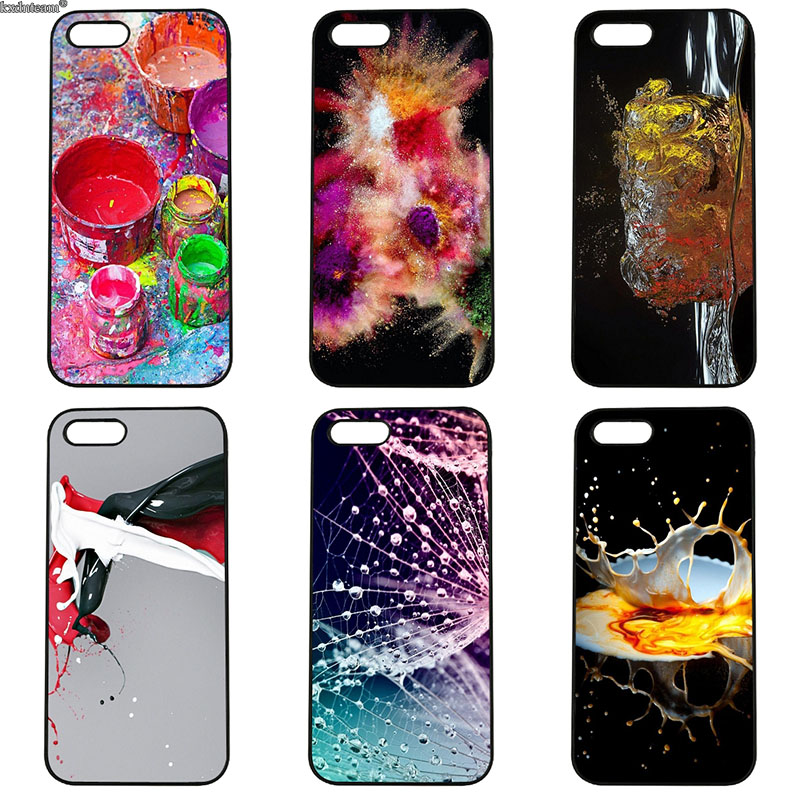 Oil Painting Graffiti Inkjet Design Phone Cases Hard PC Cover for iphone 8 7 6 6S Plus X 5S 5C 5 SE 4 4S iPod Touch 4 5 6 Shell