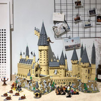 16060 Harri Potter Movie Series Hogwarts Castle Model Building Kits Blocks For Kids Christmas Gifts Compatible with Legoing