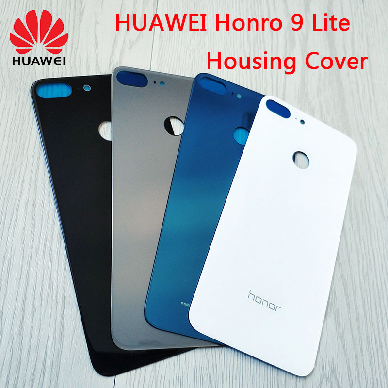 Original Glass Battery Cover For HUAWEI Honor 9 Lite,Back Door Replacement Rear Housing Case,Adhesive Sticker 4 Colors In Stock(China)
