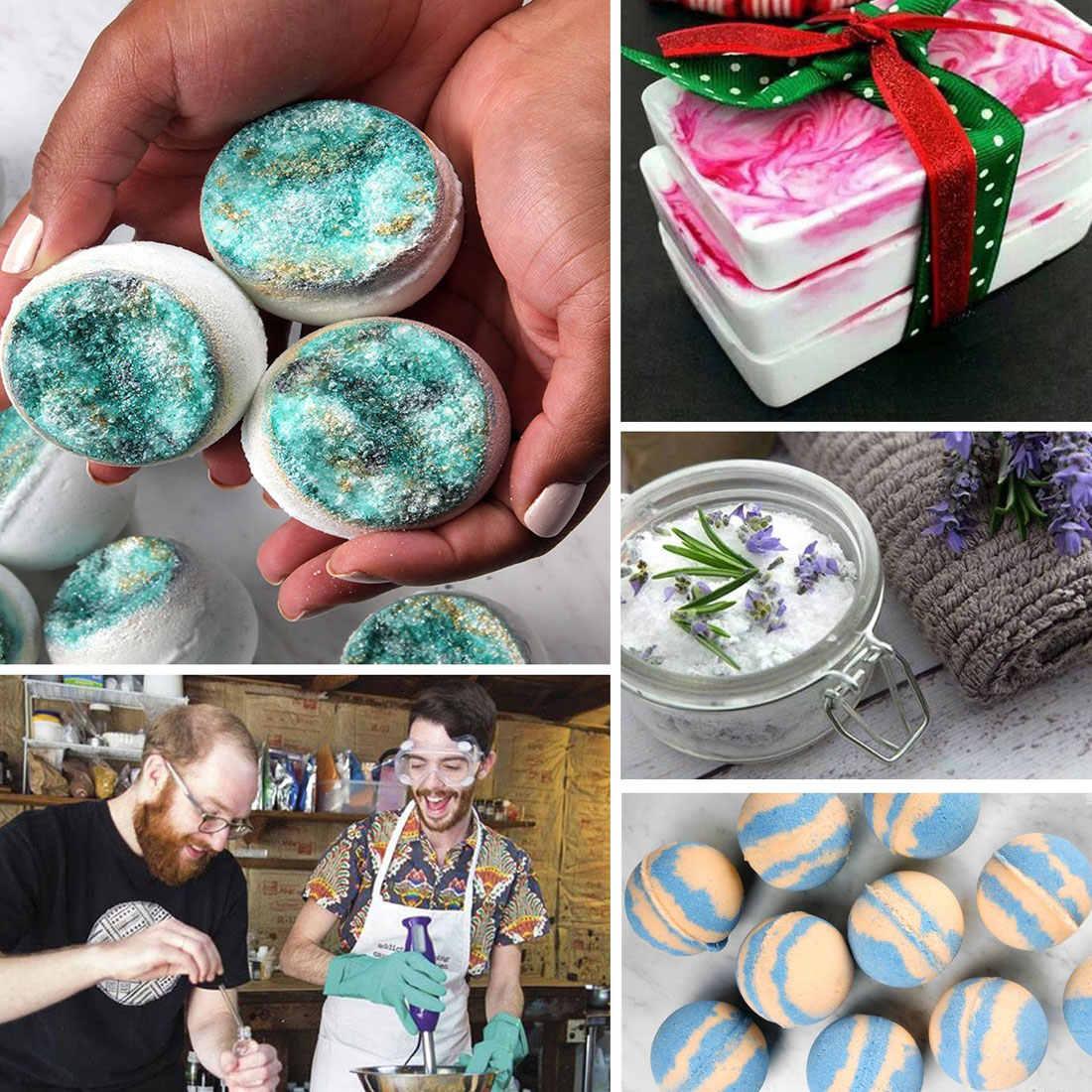 صابون ملون مصنوع يدويًا من البلاستيك لون الماء والزيت صبغات دقيقة لتقوم بها بنفسك غراء UV غراء خبيز 10 مللي قاعدة صبغات الصبغ والصابون
