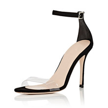 Fashion New Designers Women Summer Sandals Shoes Narrow Band Upper Woman Transparent Thin Heel Gladiators TL-A0040