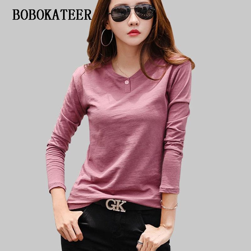 Ver o BOBOKATEER blusas feminina 2019 blusa mulheres blusas camisa de manga longa mulheres tops casual blusas mujer solto blusa feminina