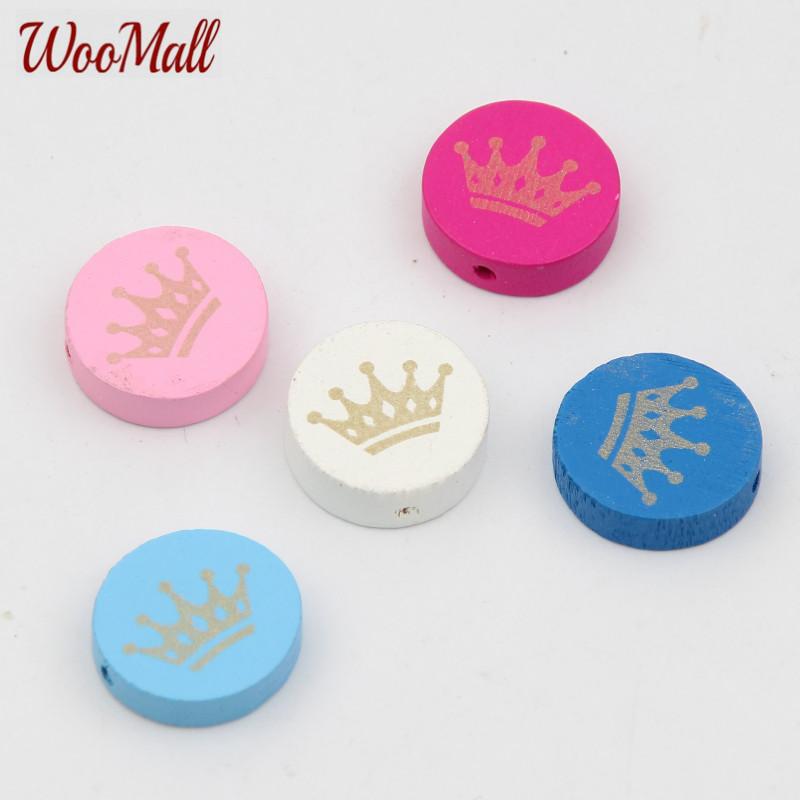 Crown Spacer Beading 30pcs Wood Beads 20mm For Baby DIY Toys Crafts Kids Toys & Pacifier ...