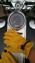 New arrival  Motorcycle retro  Leather  Gloves  scooter  glove Cafe Bobber  Glove Work glove Gold yellow
