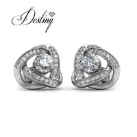 Destiny Jewellery Galaxy Earrings Fashion New Hot Sale Embellished With Crystal From Swarovski Earrings 18K Gold