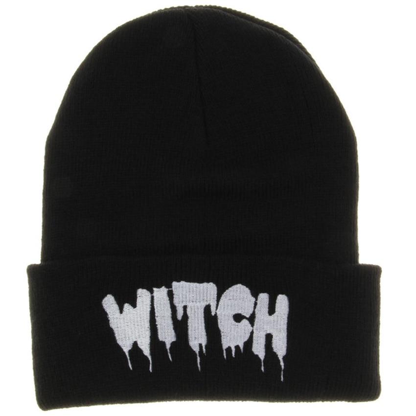 Hot New Black Acrylic Embroider Letter WITCH Beanies Hats For Women Men Unisex Adult Casual Skullies Winter Caps Knitted Gorros цикл самоучитель для бога комплект из 2 книг