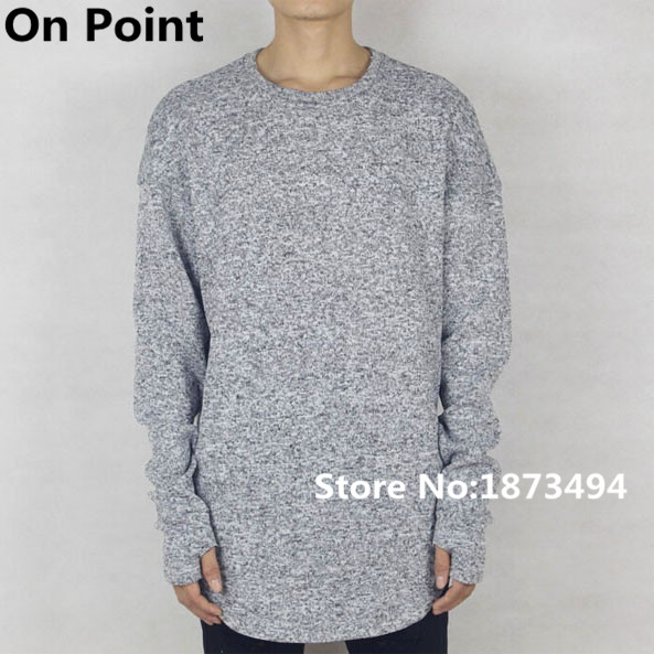 USA size mens exclusive designer baggy thumbhole sweater hip hop ...
