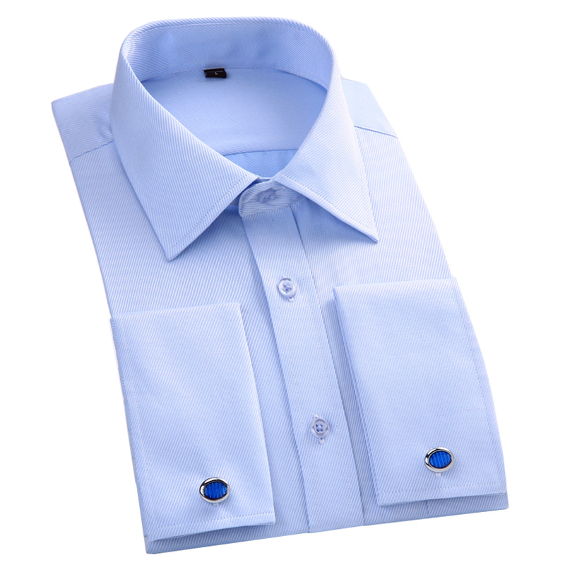 French Cuff Formal Wear Long Sleeve Shirt