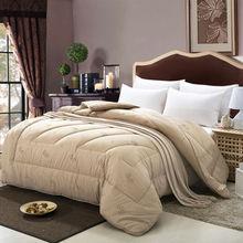 Breve acolchar edredón de invierno edredón pelo de camello/mantas edredón de microfibra 100% poliéster ropa de cama Twin/Queen/King Size edredón