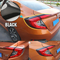 FIT FOR 2016 2017 HONDA CIVIC REAR TAIL LIGHT LAMP GATE TRIM CHROME COVER EYELID EYEBROW LID GARNISH BEZEL MOLDING STYLING