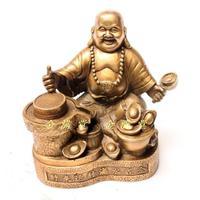 Bronze cobre decoração para casa decoração artesanato maitreya virou a esquina do dishui feijão de ouro|craft pegs|beans gasbean soy -